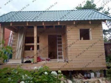 Одноэтажный дом из бруса