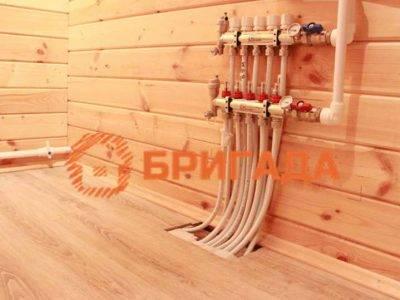 Устройство водяных полов деревянном доме