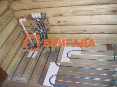 Теплые полы водяные частном деревянном доме