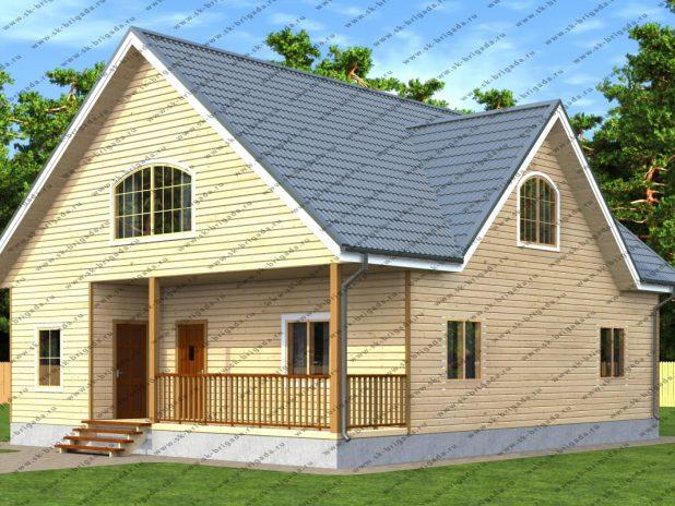 Дом из профилированного бруса с террасой под ключ