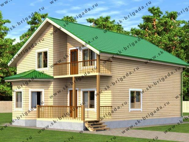 Проект брусового дома 12х9 под ключ