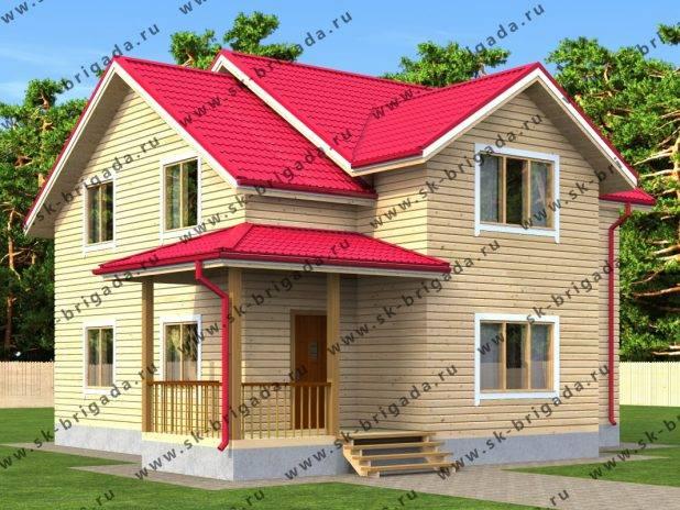 Дом 10 на 10 двухэтажный из бруса под ключ