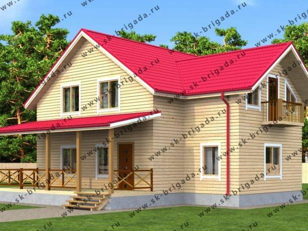Пример проекта деревянного дома под ключ