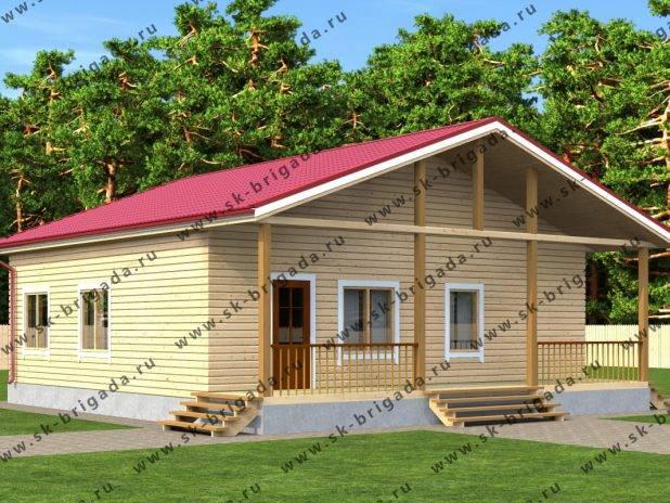 Проект одноэтажного дома 9 на 10 под ключ