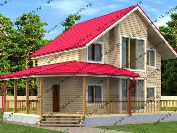 Проект дома с террасой, верандой вокруг дома под ключ