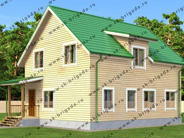 Проект брусового дома 10х8 с мансардой под ключ