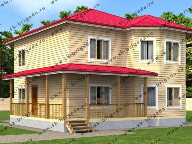 Двухэтажный дом 11 на 11 из бруса под ключ