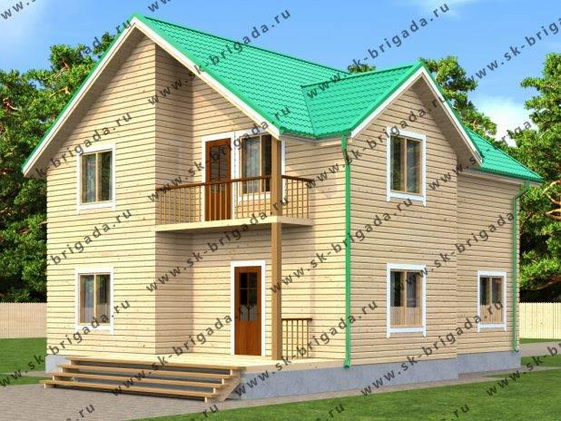 Проект дома 9 на 10 двухэтажный под ключ