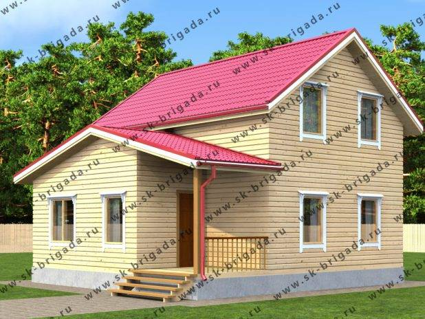 Дом из бруса 8 на 8 двухэтажный под ключ