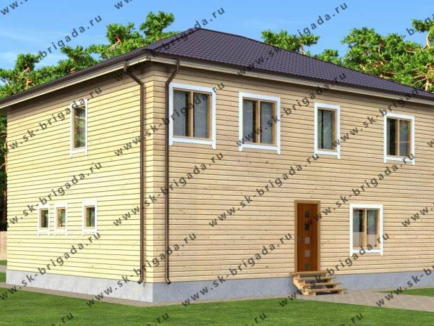 Проект двухэтажного дома 10х12 из бруса под ключ
