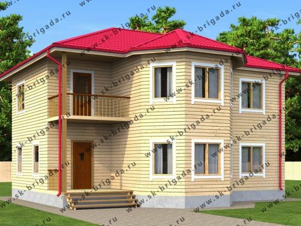 Двухэтажный дом из бруса 10 на 11 под ключ