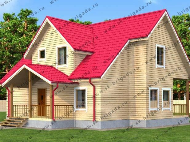 Деревянный дом с баней под одной крышей под ключ