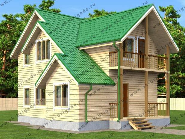 Проект двухэтажного дома из бруса 9х9 под ключ