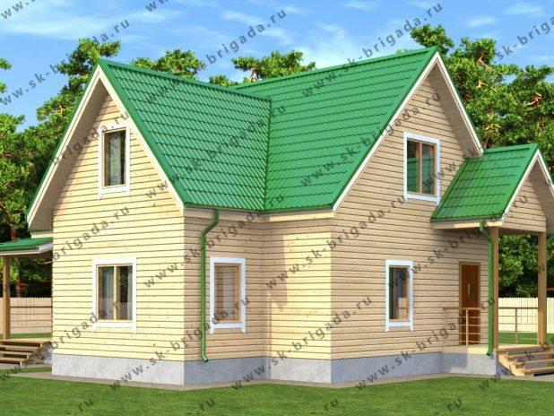 Одноэтажный дом из бруса 10х12 с мансардой под ключ
