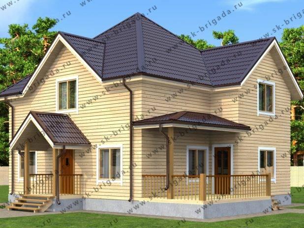 Проект двухэтажного дома 9 на 11 из бруса под ключ