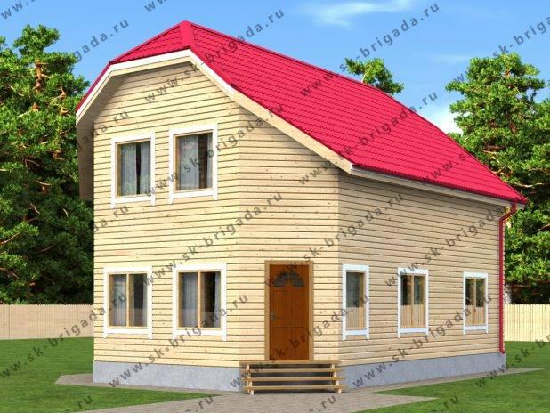Двухэтажный деревянный дом с верандой под ключ