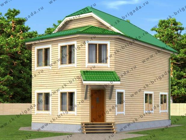 Двухэтажный дом 10 на 8 из бруса под ключ