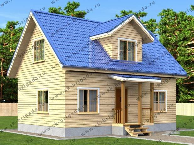 Брусовой дом 6х9 м (цена и проект) под ключ