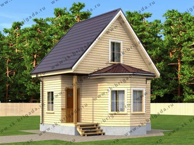 Проект дома 6 на 6 из бруса с печкой под ключ