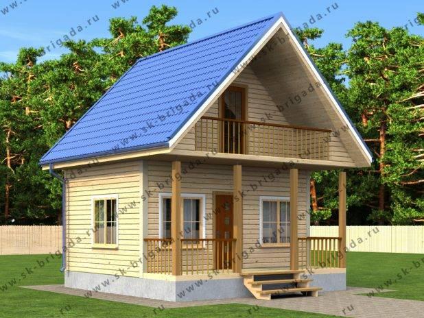 Дом 6х6 с балконом и террасой под ключ