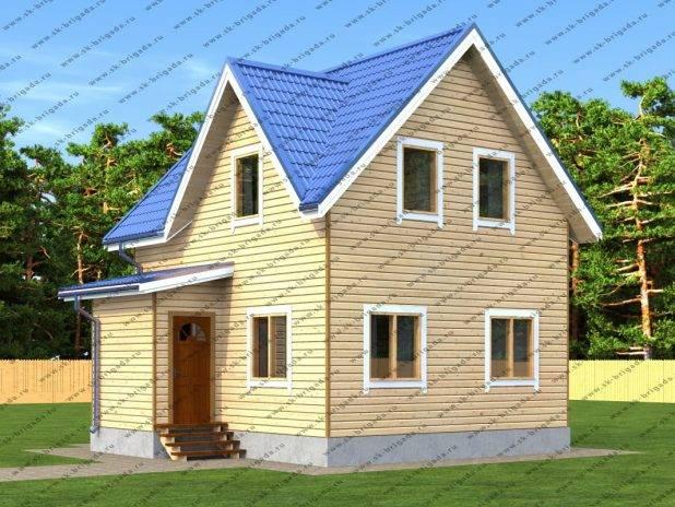 Загородный брусовой дом 9х9 под ключ