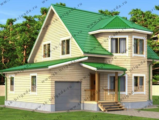Проект дома с гаражом и котельной под одной крышей под ключ