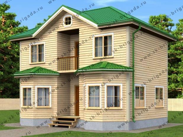 Двухэтажный дом из бруса 7х9 под ключ