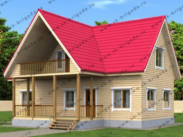 Проект дома 6 на 12 с мансардой и террасой под ключ