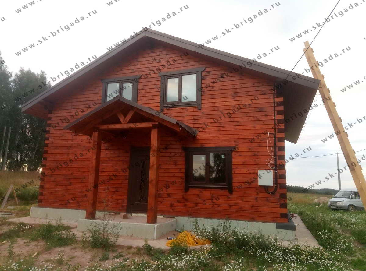 дом из бруса в Рязани под ключ с отделкой