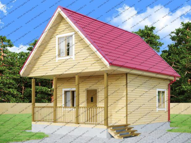 Дом из профилированного бруса 6х8 с мансардой под ключ