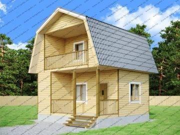 Двухэтажный проект дачного дома 6 на 6
