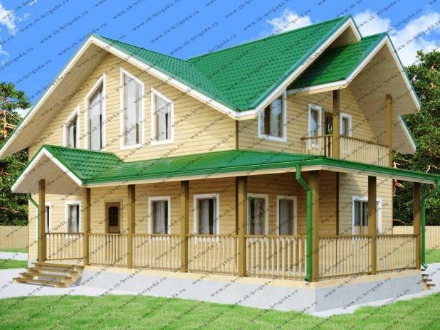 Проект дома 10 на 15 с мансардой под ключ