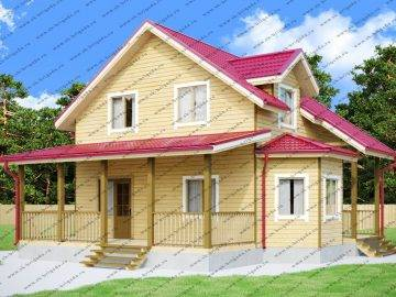 Проект дома с котельной и мансардой