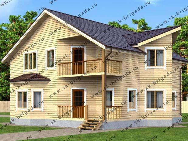 Дом из бруса 10х11 с тремя спальнями под ключ