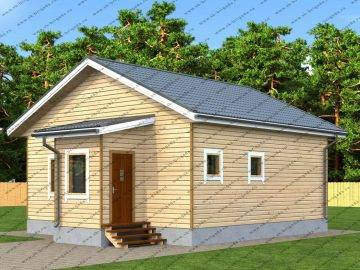 Проект дома из бруса Лада
