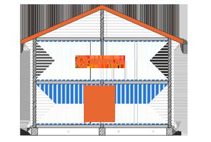 двухэтажный сруб 6х6 из бруса