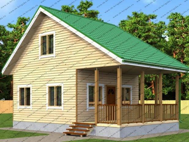 Купить дом из бруса 6 на 9 под ключ