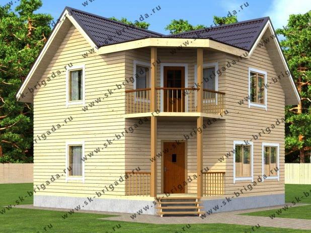 Типовой проект квадратного дома 8х8 под ключ