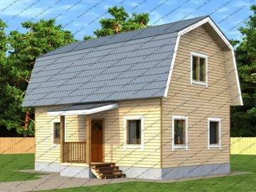 Проект дома шириной 9 метров