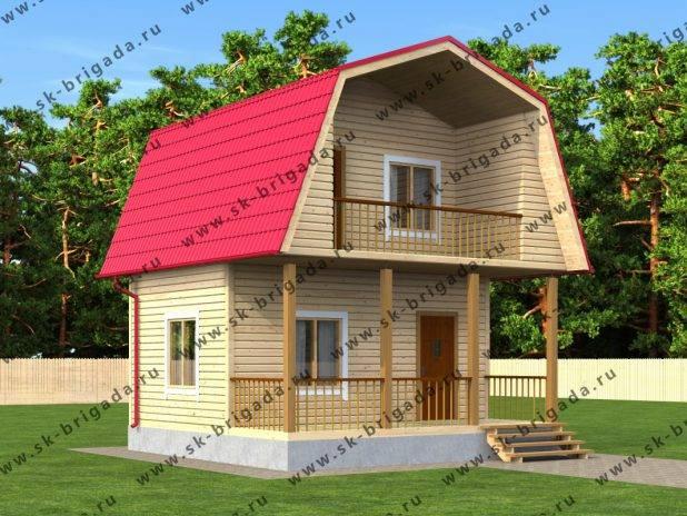 Проект дома из бруса 6х6 с балконом под ключ