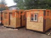 готовые перевозные бани с доставкой и установкой