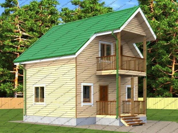 Дачный дом с балконом под ключ