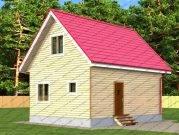 Проект дачного дома 6х8 из бруса