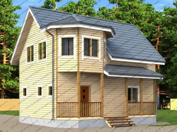 Шикарный дом из бруса 8,5 на 9 под ключ