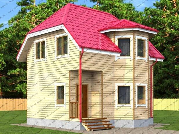Двухэтажный дом из бруса 7 на 7 под ключ
