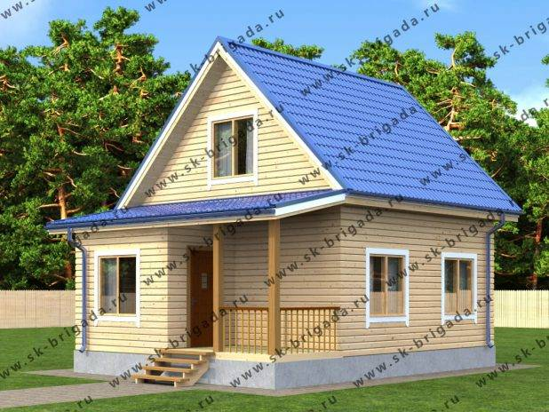 Дачный дом из бруса 6 на 6 под ключ