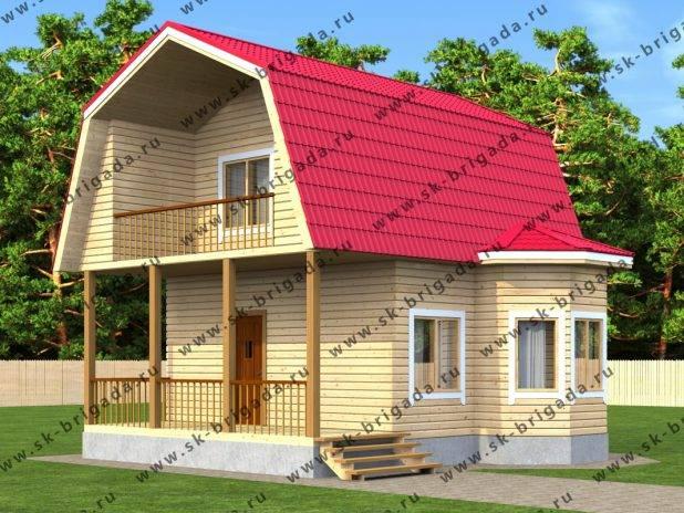 Проект дома 7 на 7,5 из бруса с мансардой под ключ