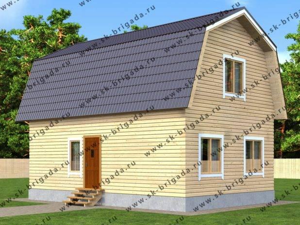 Проект дома с печкой 6 на 9 под ключ