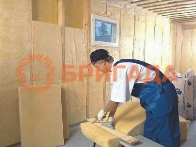 утеплить стены дома из бруса