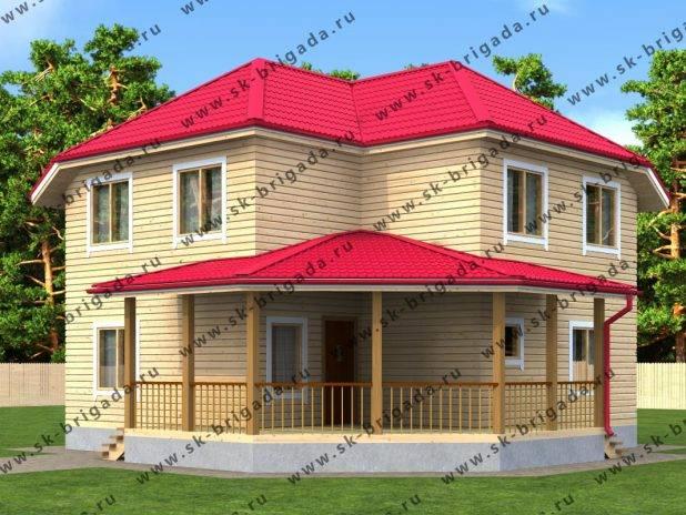 Проект дома из бруса с полноценными двумя этажами под ключ